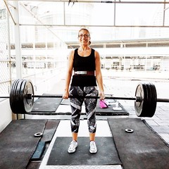 Woohoo! 80kg #deadlift for 5 reps today! I\'m coming for you 1.5x body weight! #girlswhopowerlift