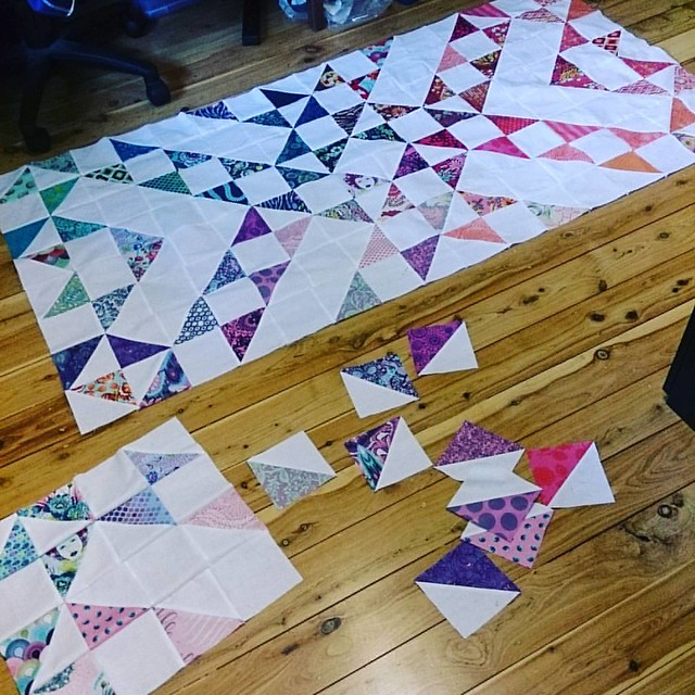 Australia Day workroom shot! #aussiecharmalong #intulawoven