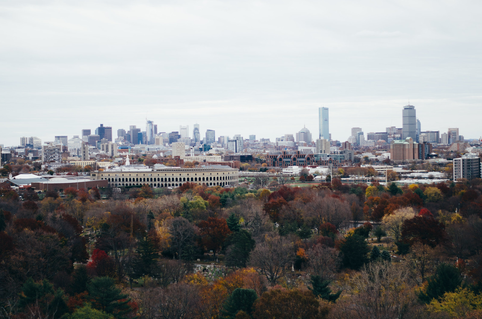View of Boston from the view of Mount Auburn Cemetery on juliettelaura.blogspot.com