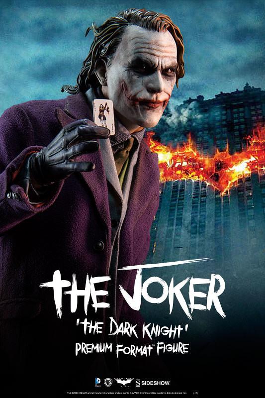 【完整官圖更新】Sideshow Collectibles【黑暗騎士:小丑】The Joker 1/4 比例 全身雕像