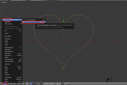 Modeling a Heart - Convert to Object