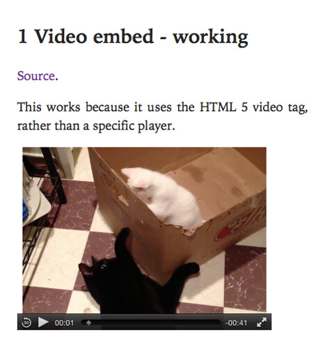 Video tag embed working