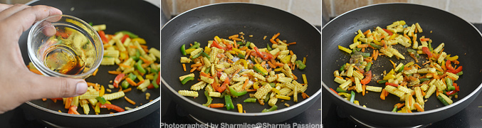 How to make Baby Corn Fried Rice - Step3