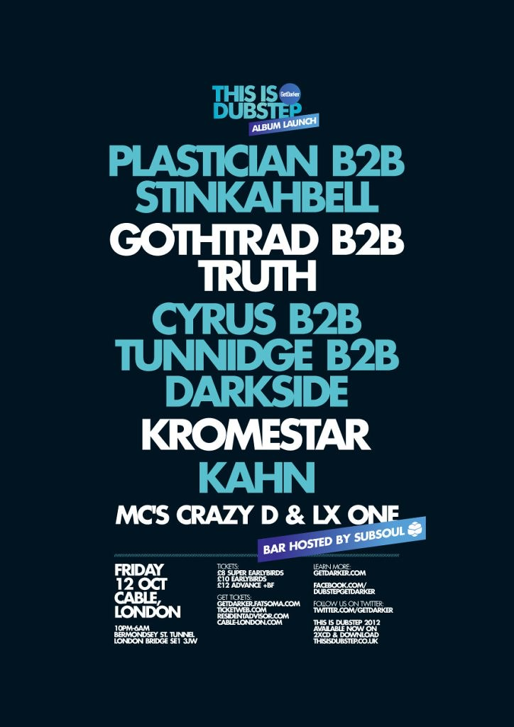 This Is Dubstep - Album Launch 6 - Cable, London - October 2012