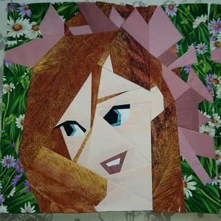 Paper pieced Giselle. Fandominstitches.
