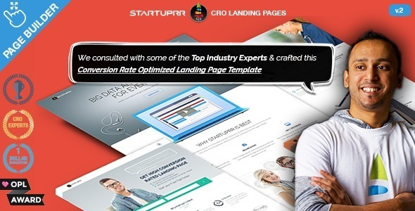 Startuprr v2.0 - Conversion Optimize Landing Page Template with Page Builder