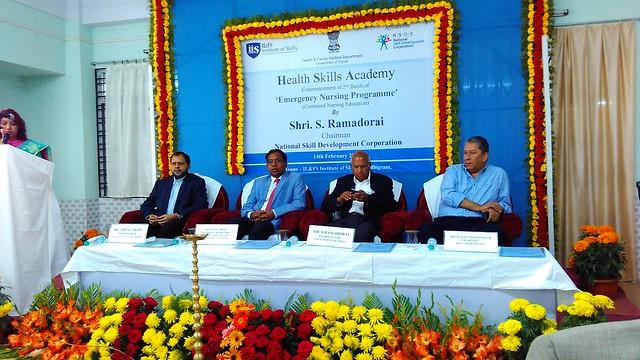 5.Inauguration of of Emergency Nursing Training by S. Ramadorai, also seated in dias Mr. Ranjit Barthakur, Chairman FICCI North East, Mr. M Nagaraju, Principal Secretary, Tripura