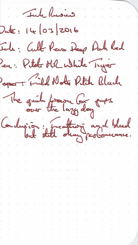 Cult Pens Deep Dark Red - Field Notes
