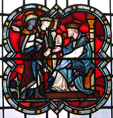 The Magi ask Herod the way to the Christ child