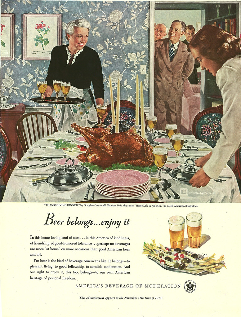 010. Thanksgiving Dinner by Douglass Crockwell, 1947