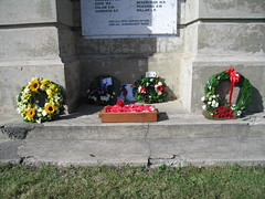 Wreaths, Hornby Primary School War Memorial