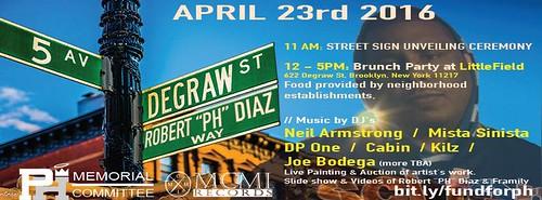 4/23 -  Robert PH Diaz Park Slope Street Naming Ceremony & Celebration