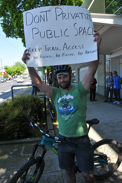 Tualatin Mtns Trail Plan protest at Metro HQ-6.jpg