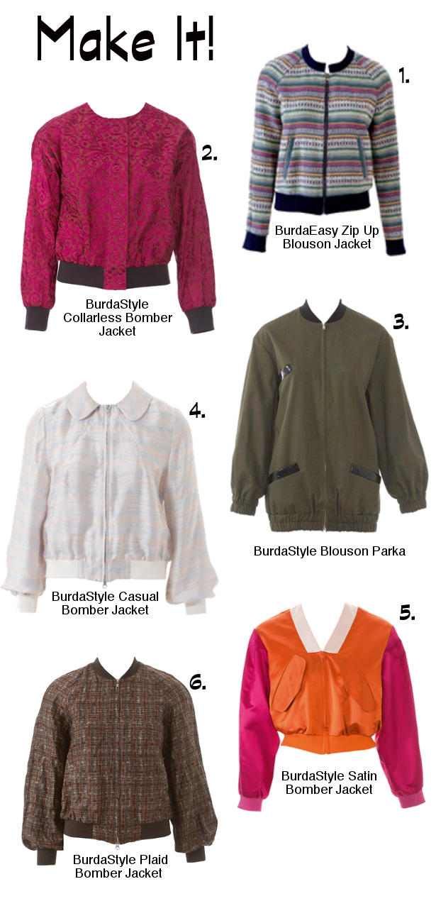 What We Want To Make: The Bomber Jacket – Sewing Blog | BurdaStyle.com