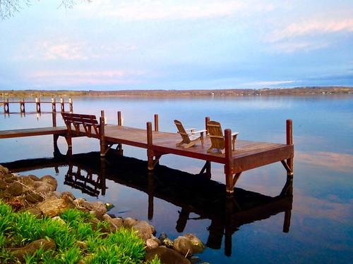 Relaxing at Green Lake, Wisconsin
