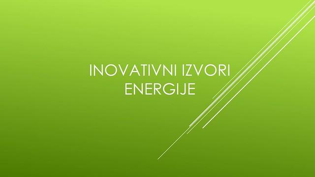 Inovativni izvori enrgije