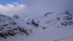 Widok ze schroniska Chamanna Boval 2495m na Diavolezza, lodowce Pers i Mortaretsch, Isla Persa