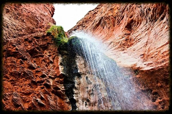 grand canyon hike ribbon falls