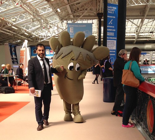 Walking foot at London Book Fair