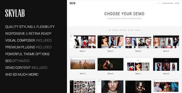 Skylab v2.1.1 – Portfolio / Photography WordPress Theme