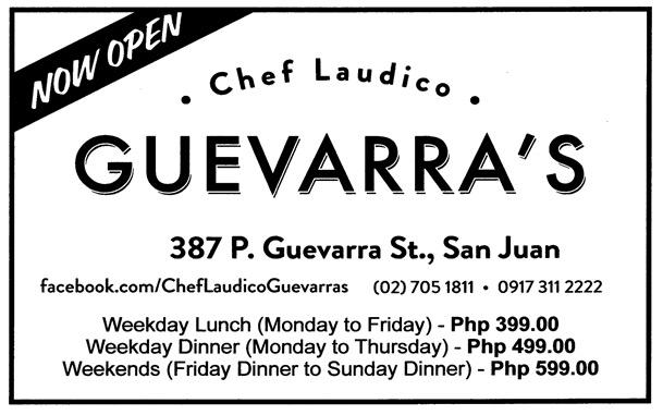 Chef Laudico Guevarra's