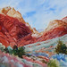 Small photo of Calico Red Ash Canyon painting by Susan Thiele