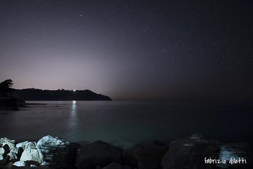 sunset red sea italy panorama sun moon water set sunrise stars landscape italia tramonto mare blu luna rise sole acqua rosso marche adriatic adriatico ancona stelle portonovo