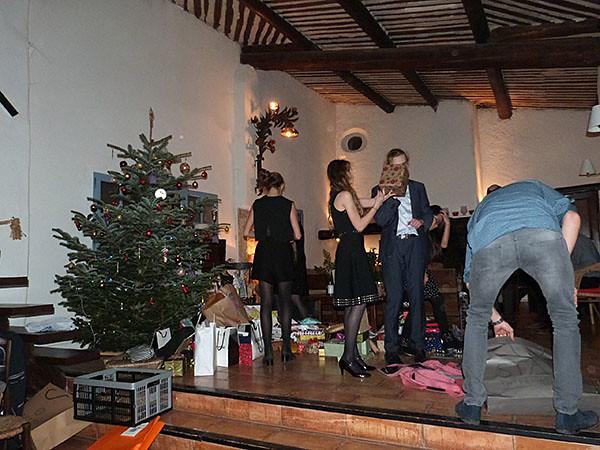 installation des cadeaux