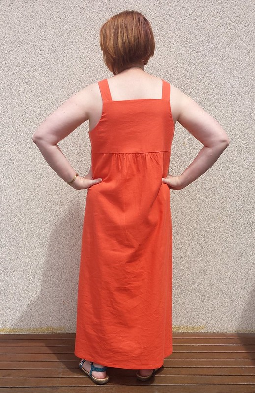 Tessuti Annie dress in cotton linen from Darn Cheap Fabrics