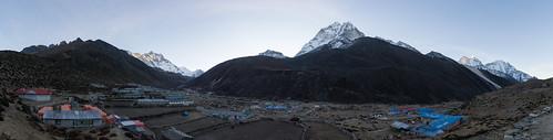 nepal panorama mountain snow sunrise peak ke np lhotse amadablam thamserku imjatse islandpeak 2015 dingboche kangtega easternregion amphugyabjen