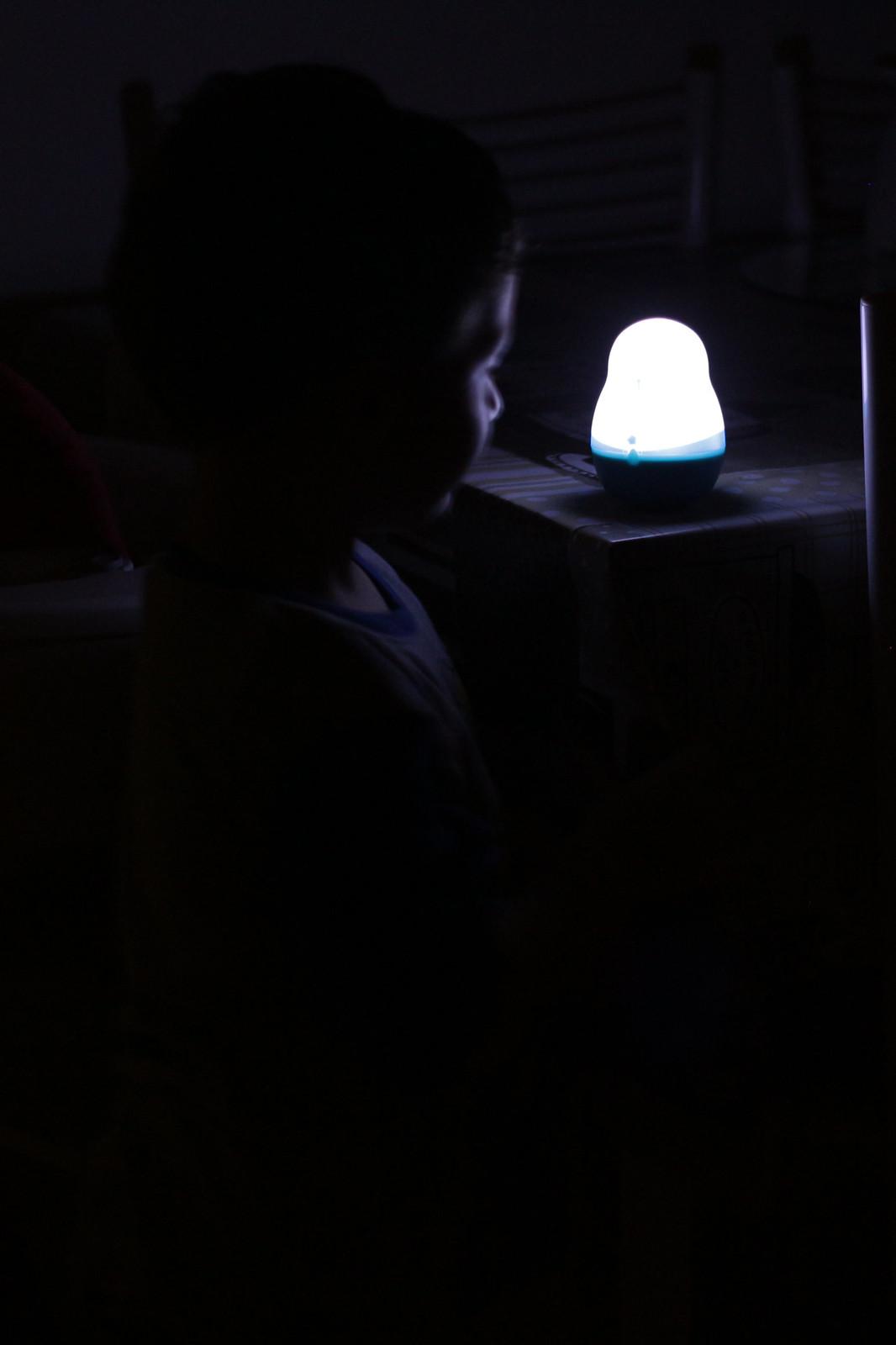 La paura del buio e la luce notturna ricaricabile Pabobo