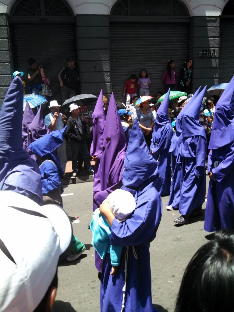 Purple Robes In Easter Process