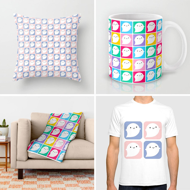 Little Ghost patterns at Society6