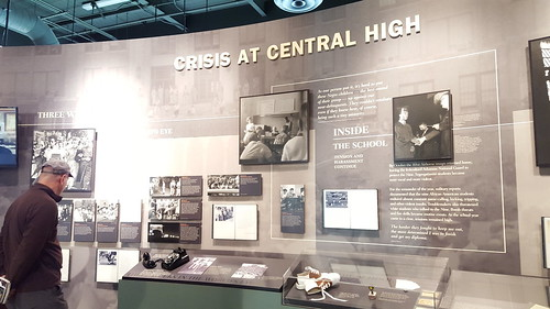 Inside the Visitor Center at Central High