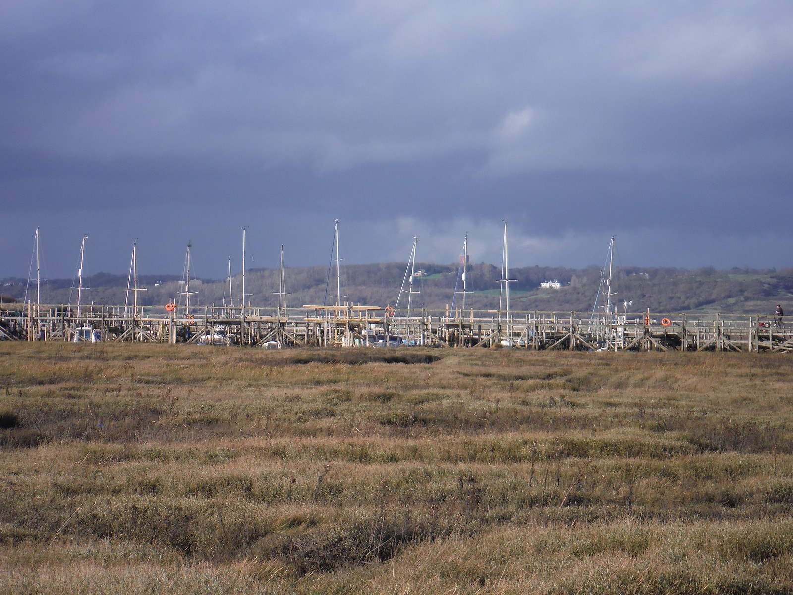 Smallgains Marina and Benfleet Downs from Canvey Point SWC Walk 258 Benfleet Circular (via Canvey Island)