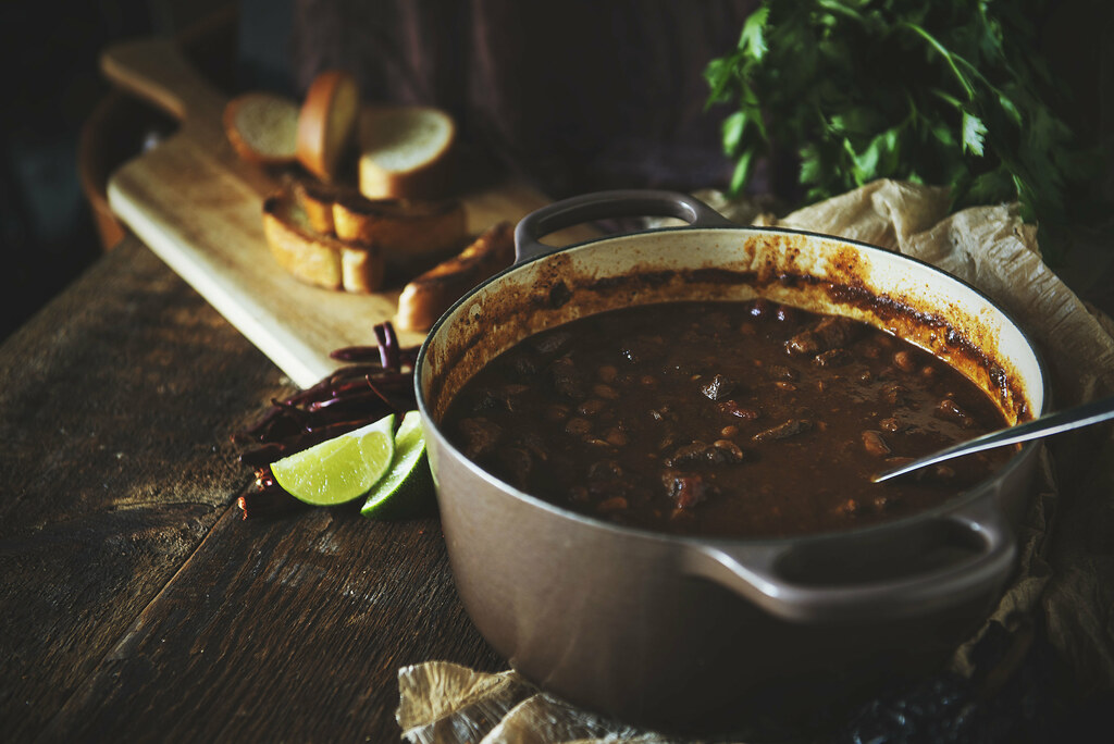 Classic Beef Chili Recipe uses chuck roast and dried chilies to pack a ton of flavor into one bowl | GirlCarnivore.com