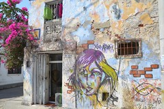 Street scene in Cartagena, Colombia