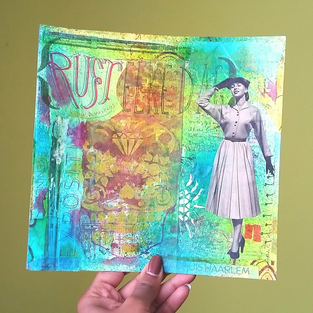 Mail art 2016-003 green background