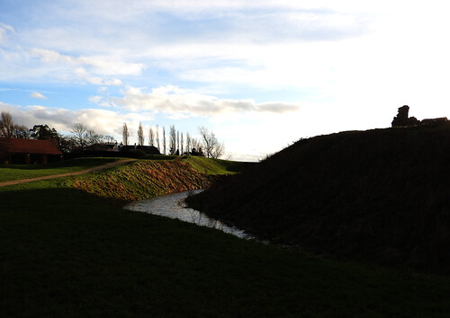 Sandal Castle Moat and Sky