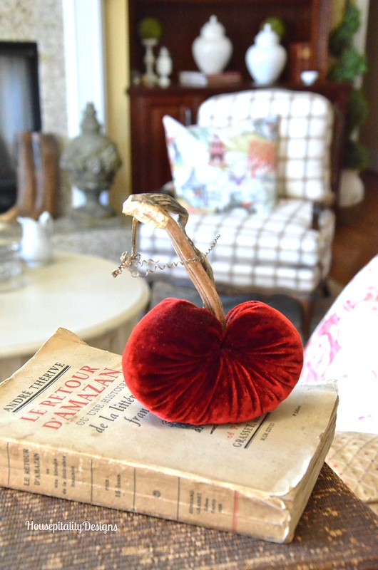 Red Velvet Plush Heart - Housepitality Designs