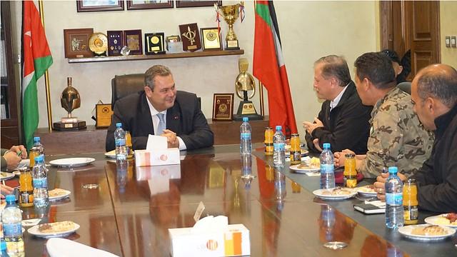 Επίσημη επίσκεψη ΥΕΘΑ Πάνου Καμμένου στην Ιορδανία