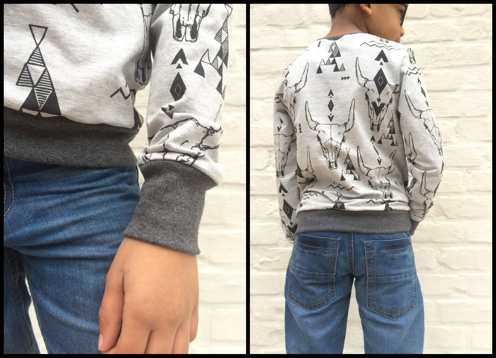 skulls sweater (collage)