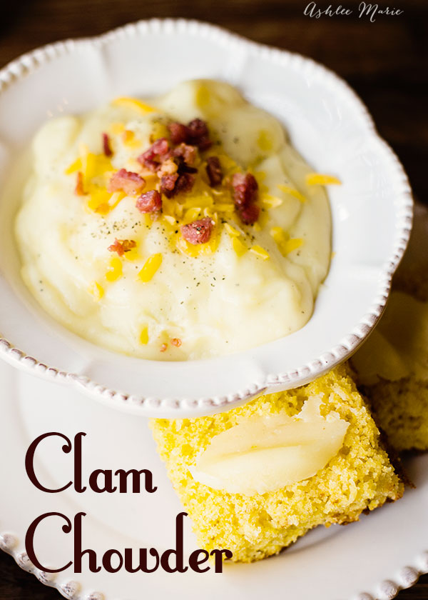 this clam chowder is the ultimate comfort food, full of flavor and always a favorite, serve with cornbread and top with cheese and bacon for even more flavor