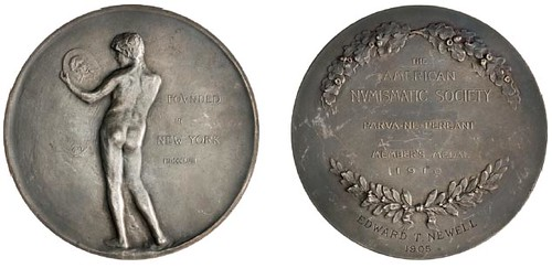Miller-ANS-Medals Silver membership medal of Edward Newell