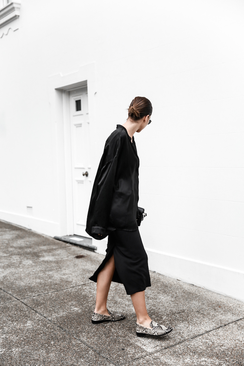all black outfit inspo street style silk Proenza Schouler Mini fashion blogger Haider Ackermann modern legacy Instagram (3 of 7)