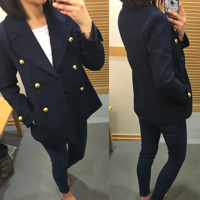 LOFT Admiral's Peacoat, size XSP