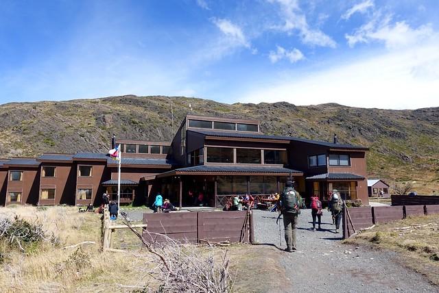 Entrance to Paine Grande 'resort'