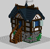 Medieval Cottage (LDD Building Instructions) by  TheLegoRat