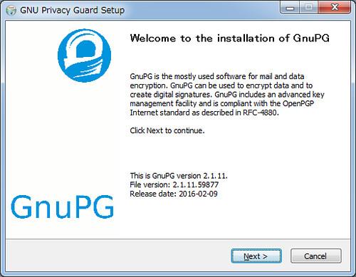Installing GnuPG for Windows (1)