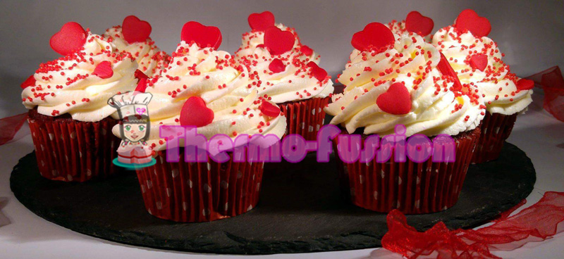 Cupcakes Red Velvet O Terciopelo Rojo San Valentin Thermomix